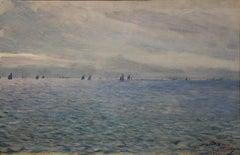 Marine scene depicting Concarneau in France