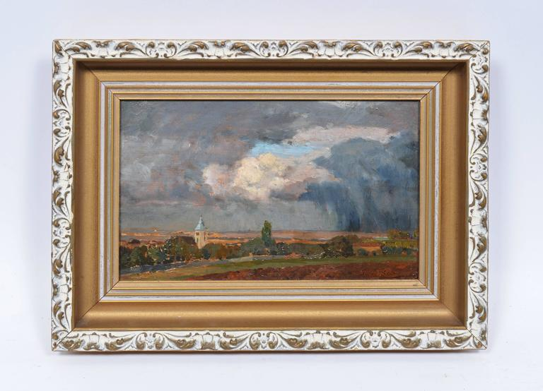 Austrian City View - Painting by TIna Regina-Leopoldine Blau