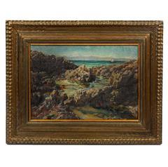 Antique British Impressionist Seascape