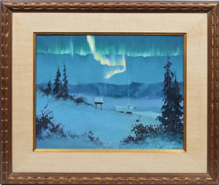 Auror Borealis, Alaskan Nocturnal View by Ellen Goodale 1934