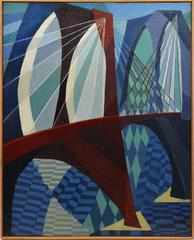 Modernist View of the Brooklyn Bridge