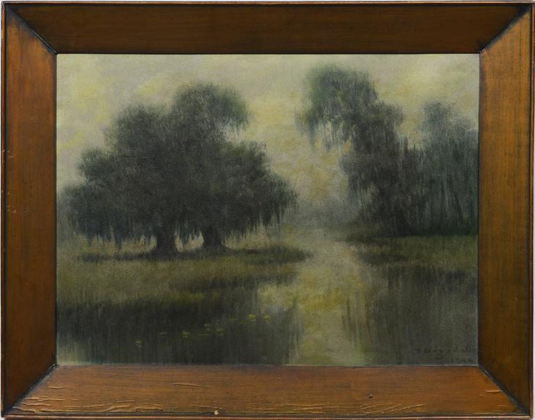 Alexander John Drysdale Louisiana Bayou Scene Painting At 1stdibs