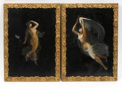 Pair of Antique Nude Portaits