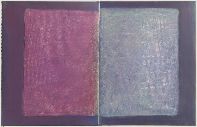 Untitled (two panels) - Mixed Media Art by John (Jack) E. Drummer
