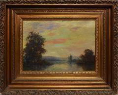 Impressionist Sunset Landscape