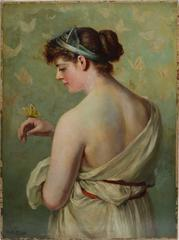Classical Portrait with Butterfly