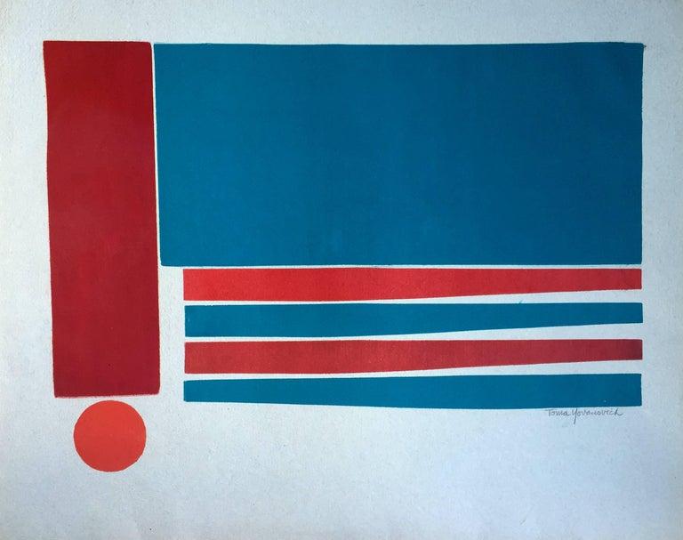 Toma Yovanovich Landscape Print - Mid-Century Modern Abstract Monotype Print