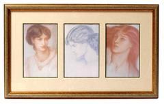 Antique Portait Triptych