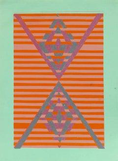 Mid Century Modern Geometric Abstract Print