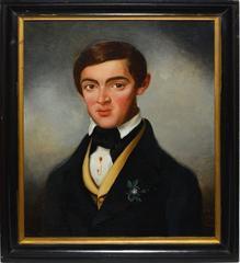 Antique Paris School Portrait of a Young Man