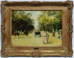 Paris Park View with Horses and Figures