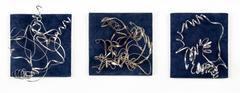 Blue Silver Triptych