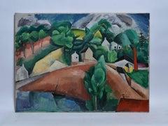 Paris School Modernist Landscape by Henri Hayden