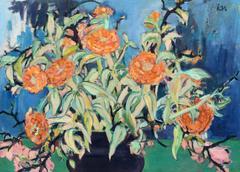 Mid Century Modern Floral Still Life