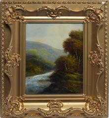 Hudson River School Landscape by Charles P. Rising