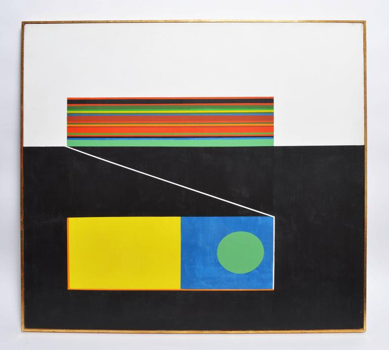 Geometric Mid Century Abstract - Painting by Unknown