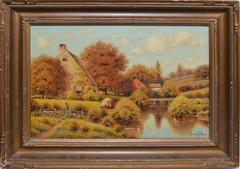 Lake Landscape with Ducks by George W. Drew