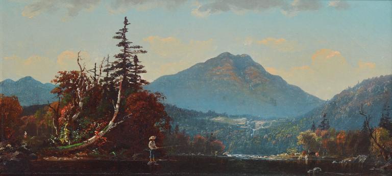 Fall Landscape by John J Enneking - Hudson River School Painting by John Joseph Enneking