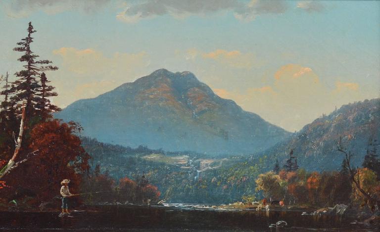 Fall Landscape by John J Enneking - Brown Landscape Painting by John Joseph Enneking