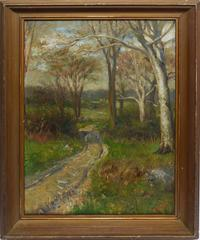 American School Impressionist Landscape