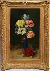 Antique Spanish Floral Still Life