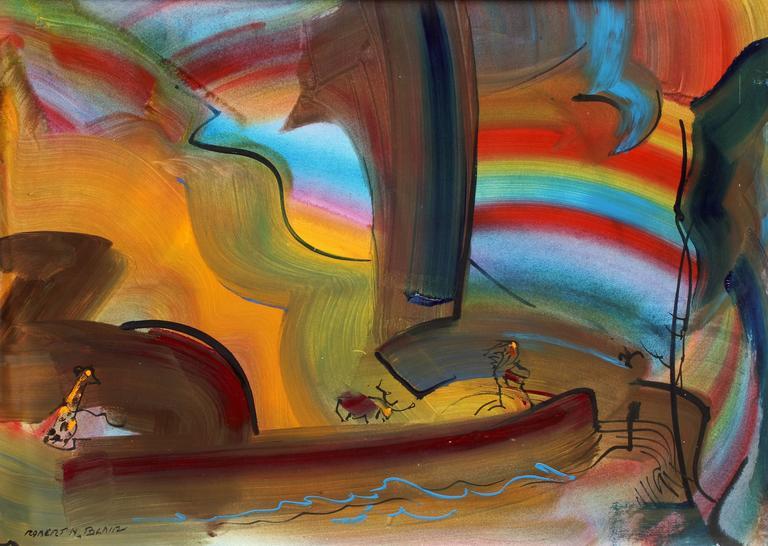 Robert Noel Blair Abstract Painting - Safari Fantasy