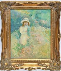 Impressionist Portrait of a Girl in Wild Flowers