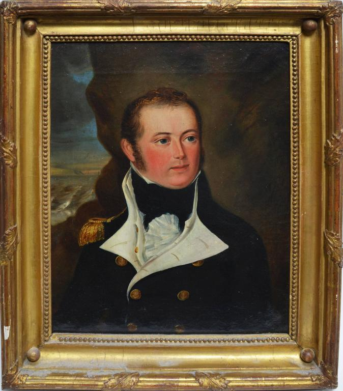 Unknown Portrait Painting - Portrait of a Military Officer