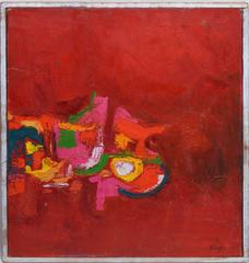 Abstract Composition in Red