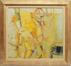 Femmes Au Salon, Abstracted Nude Composition by Gabriel Godard