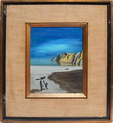 Surreal Beach View with Figure