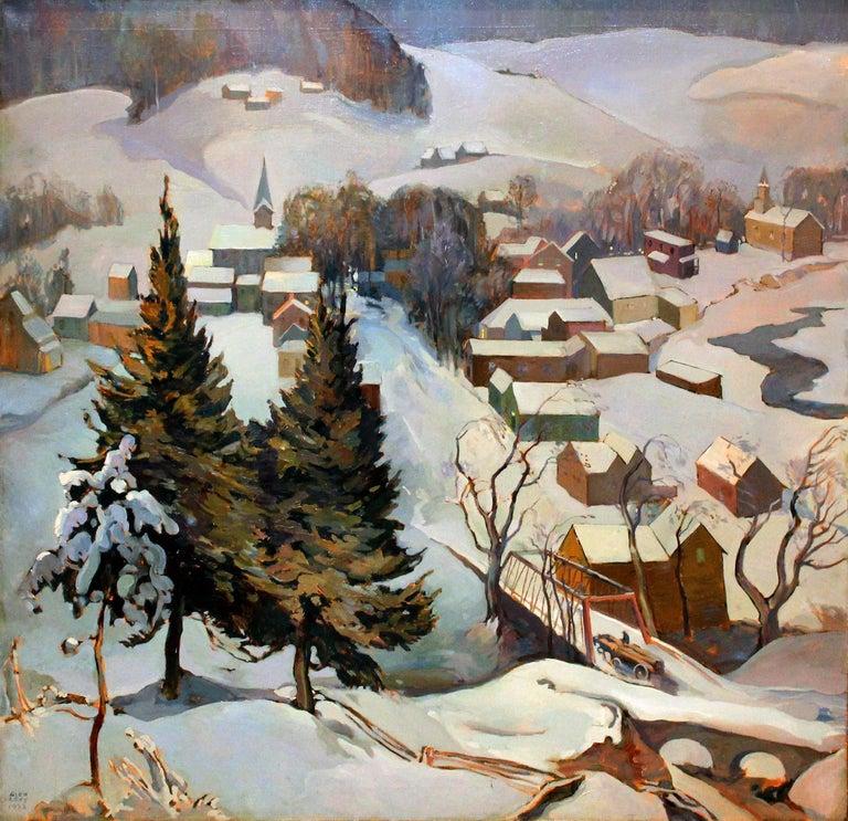 Alexander Oscar Levy Landscape Painting - Under the Hollow