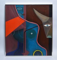 Modernist Nude Composition by Carlos Paez Vilaro