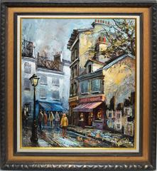 Paris Street View signed Rusinol