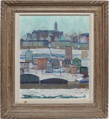 Modernist Winter Cityscape