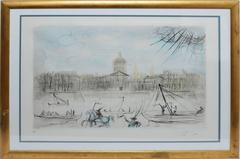 "Dali Original Hand Signed and Numbered Etching, ""Academie des Beaux Arts"""