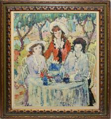 Paris School Portrait of Three Woman at Lunch