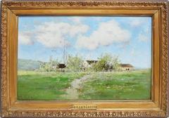 Antique Barbizon Landscape by Victor Viollet-le-Duc