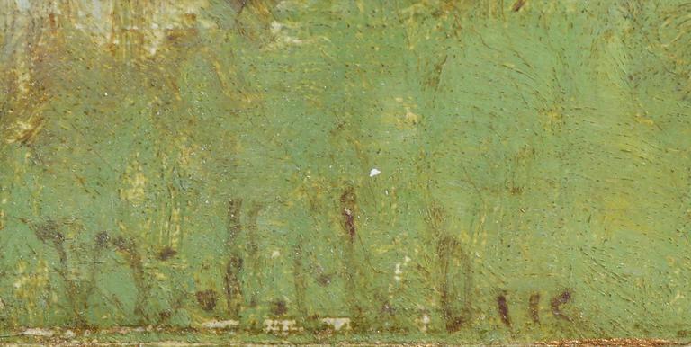 Barbizon River Landscape with a Boat by Victor Viollet-le-Duc  For Sale 6