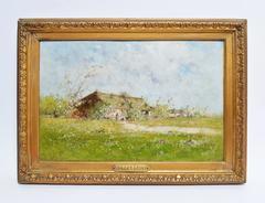 Barbizon Landscape with a Farm by Victor Viollet-le-Duc