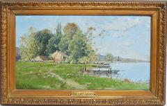 Lakeside Barbizon Landscape by Victor Viollet-le-Duc