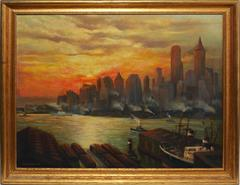 New York City Sunset View 1932