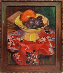 Modernist Fruit Still Life by Saul Raskin