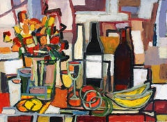 Still Life with Bananas and Wine
