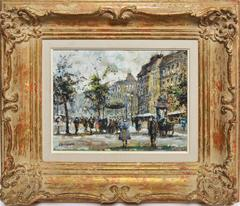 Paris School Impressionist Street view of Montparnasse