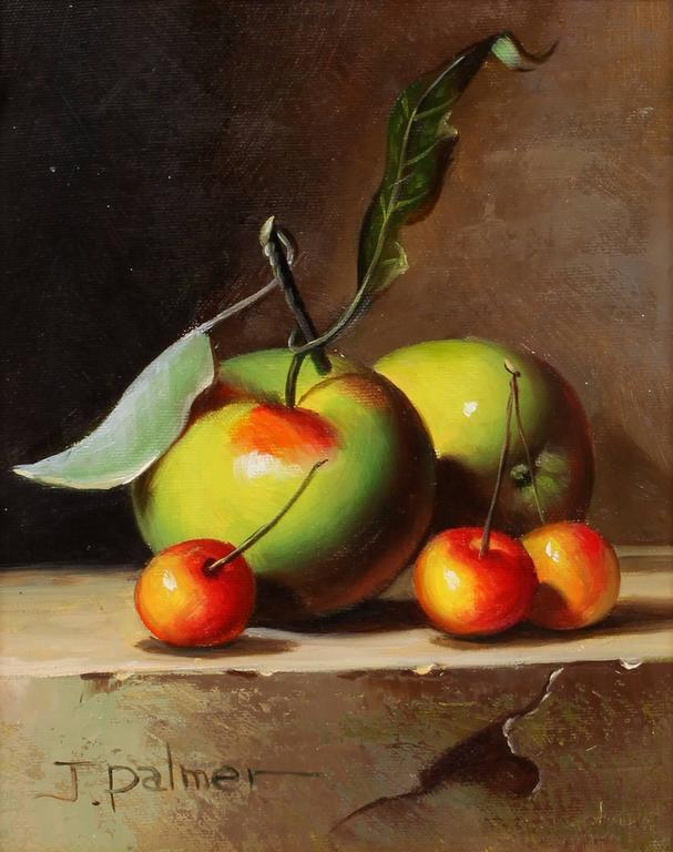 Still Life with Apples and Cherries