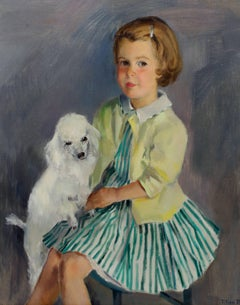 Young Girl with Poodle