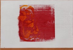 Mid Century Modern Abstract Woodblock Print