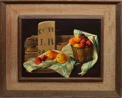 Trompe L'Oeil Fruit Still Life by Lodewijk Bruckman