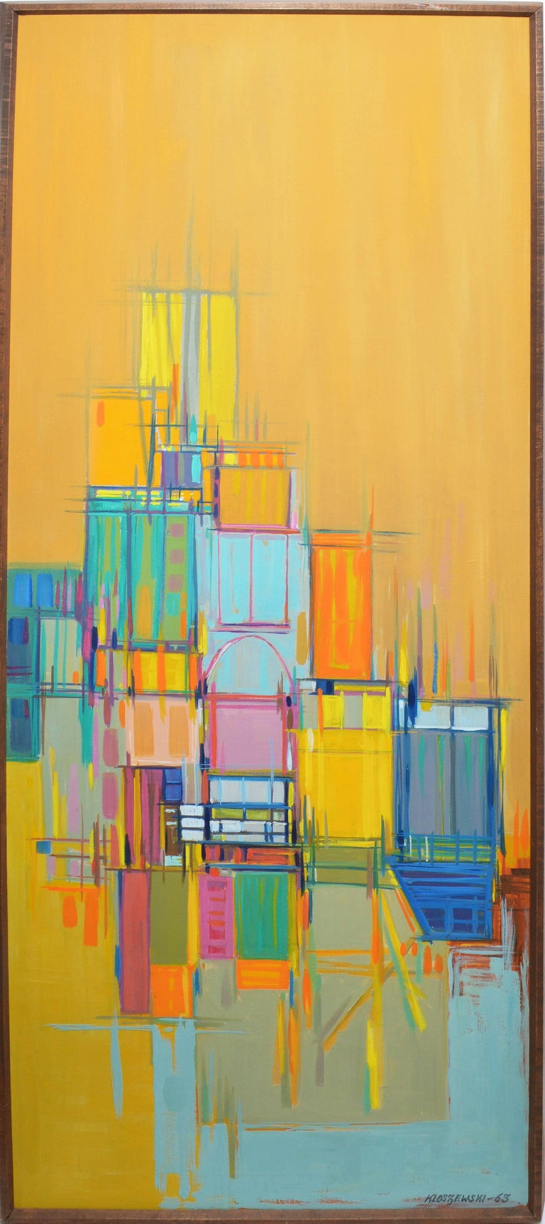 Eugene Kloszewski Mid Century Abstraction By Eugene